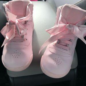8e62ec7f4cbd9 Reebok Shoes - REEBOK FREESTYLE HI SATIN BOW